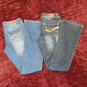 2 Pairs Lei Jeans